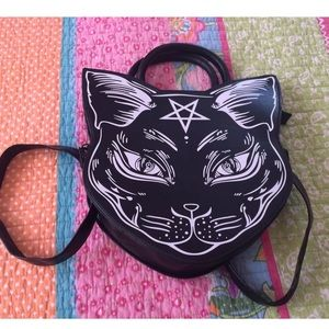 Handbags - Banned apparel gothic occult cat purse